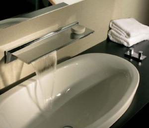 Bocca lavabo Orizzonti con comando laterale