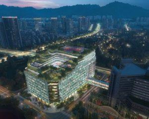 Shenzhen: nuovo ospedale pediatrico con giardini pensili a cascata