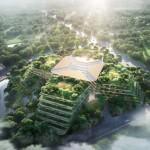 Le prime immagini del nuovo ospedale di Shanghai by Foster+Partners