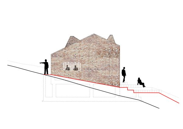 La pendenza della nuova abitazione realizzata a Cigliè