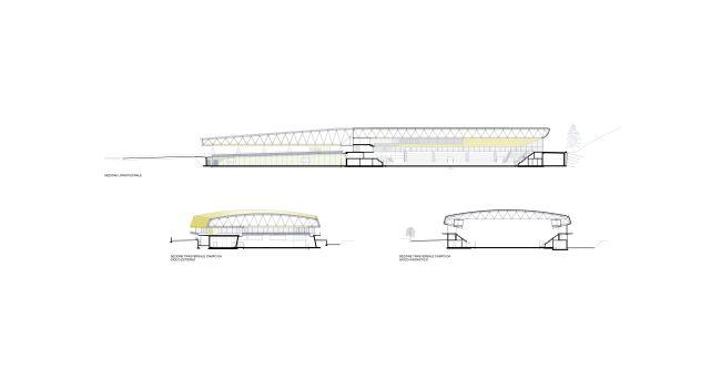 Brunico, sezioni del palaghiaccio di CeZ Architetti