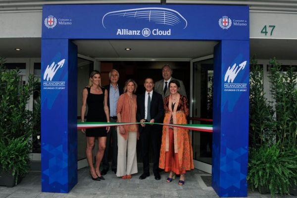 Il taglio del nastro il 14 giugno all'inaugurazione dell'Allianz Cloud, ex Palalido di Milano
