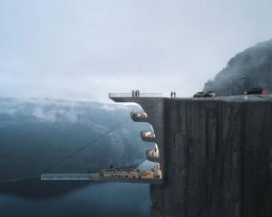 Un hotel a strapiombo sui fiordi: il progetto di Hayri Atak