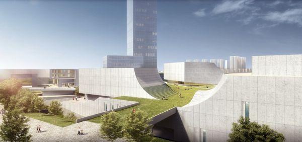 Centro artistico di Shenzhen con roofgarden