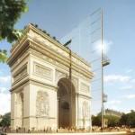 Parigi: un progetto visionario divide a metà l'Arco di Trionfo
