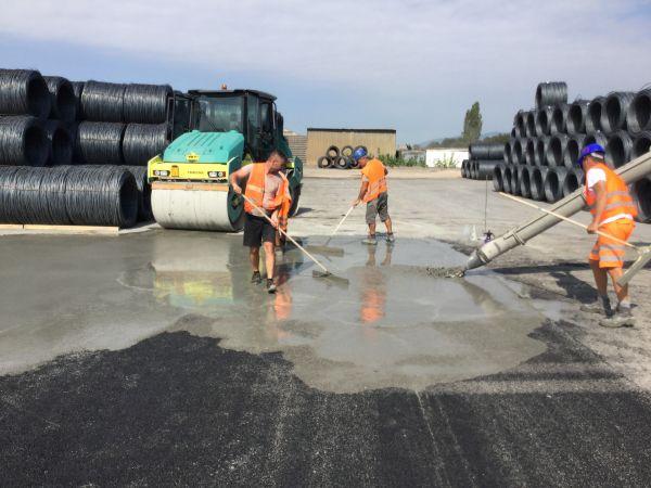Pavimentazioni Bernardelli Group in asfalto e calcestruzzo per piazzali di acciaierie