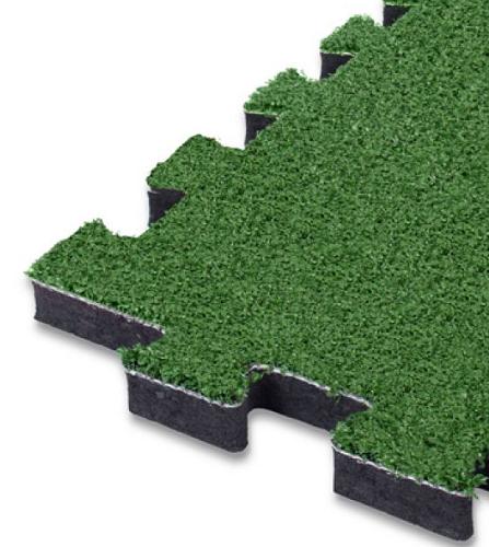 Pavimentazione a puzzle in erba