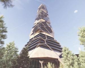 PEKULIARI: il grattacielo dalla forma rocciosa che connette uomo e natura
