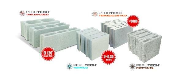 Gamma di blocchi da costruzione Perlitech