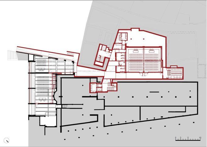 Accademia Cusanus: Il piano terra della sala conferenze e degli spazi annessi
