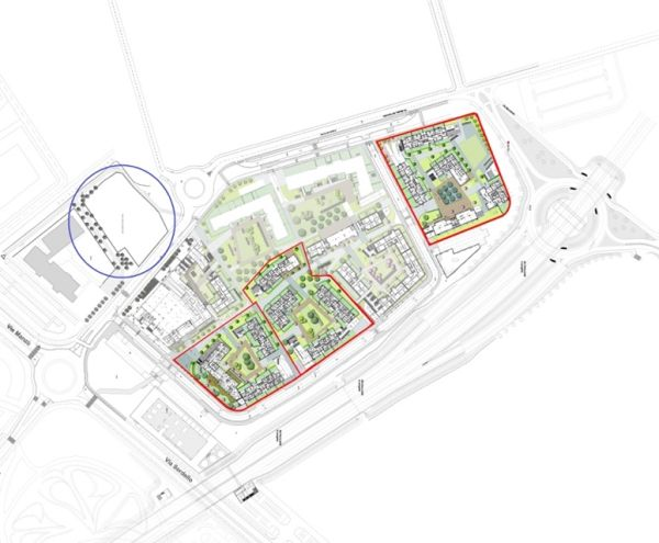 Planimetria del complesso di Redo a Milano Santa Giulia