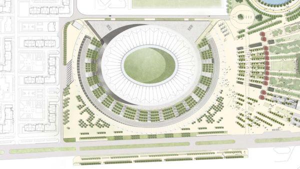 Pianta dello stadio FC Krasnodar in Russia