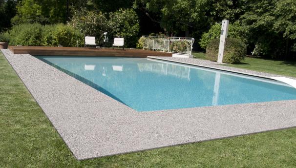 Decorstone pavimenti continui in pietra naturale e resina for Piscina resina