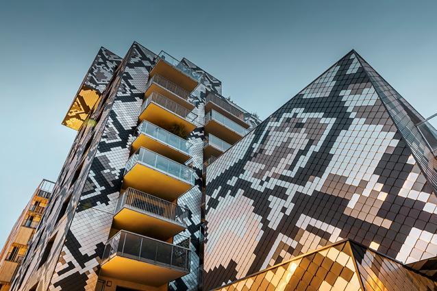 Edificio Le Python, rivestito di Losanghe PREFA a Grenoble