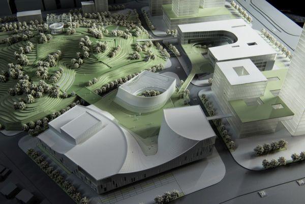 plastico del progetto del Centro artistico di Shenzhen con roofgarden