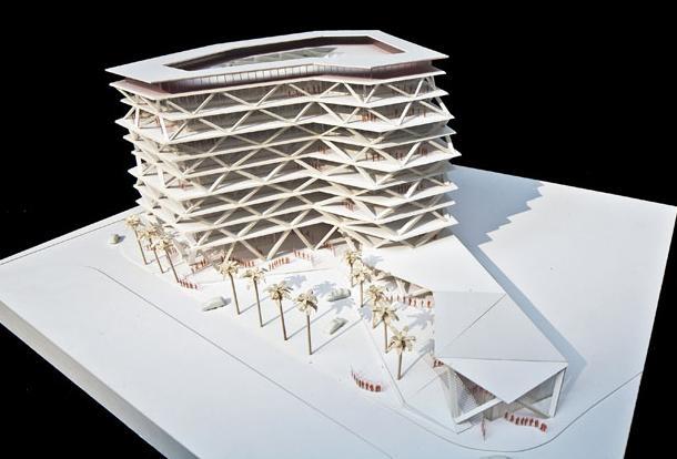 Il plastico del progetto One Airport Square