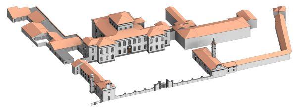 Progetto Politecnica per la riqualificazione di Villa Strozzi, il modello BIM