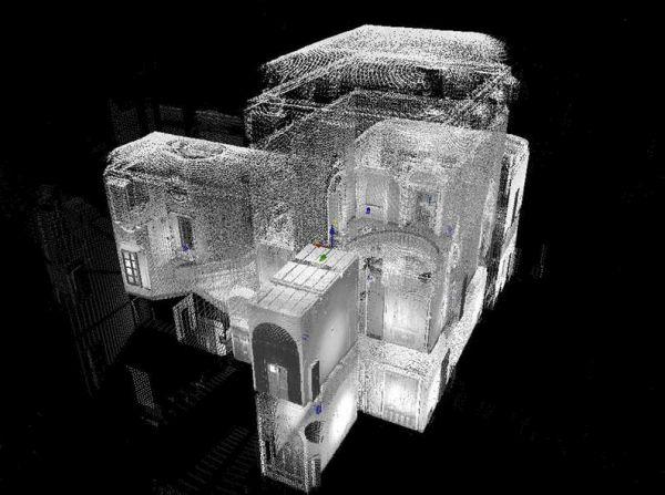 visualizzazione tridimensionale di Villa Strozzi di Mantova grazie al BIM