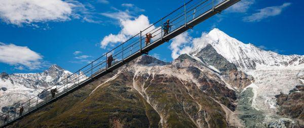 Charles Kuonen in Svizzera è il più lungo ponte pedonale sospeso al mondo