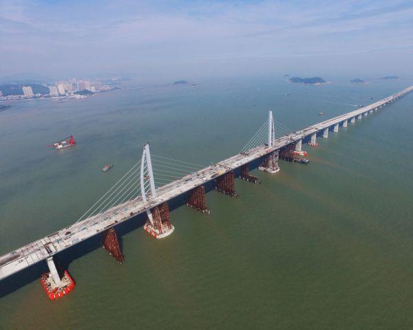Il ponte Hong Kong-Zhuhai-Macao in Cina