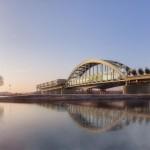 La seconda vita del ponte sul fiume Lek tra appartamenti e centro conferenze