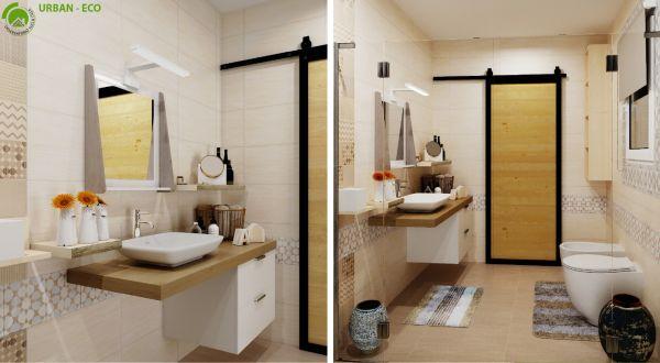 Per i bagni piccoli è consigliato scegliere la porta scorrevole