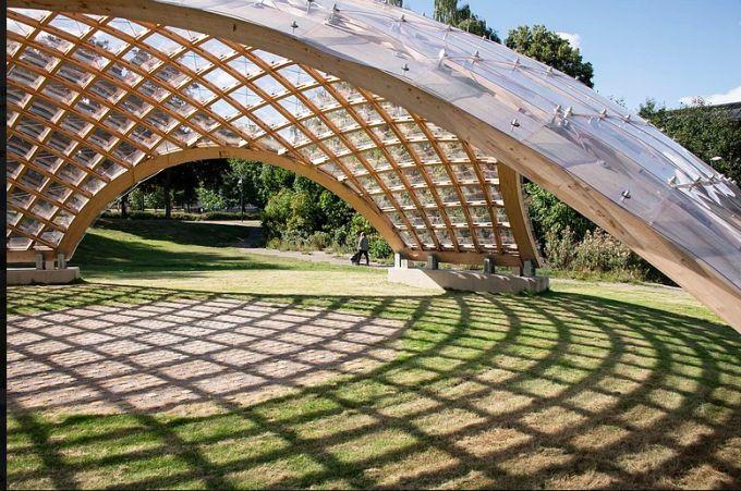 gridshell: Portalen Pavilion a Norrkoping (Svezia)