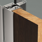 Porte interne a battente Metra-Flex con pannello in vetro e pannello pieno