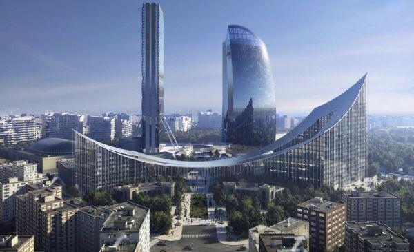 Portico by BIG: Due grattacieli collegati da un ponte completano citylife