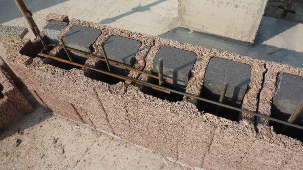 posa blocchi legno cemento