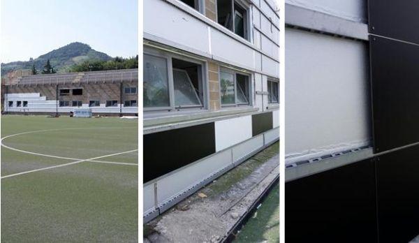 Posa facciata ventilata al Picchio Village