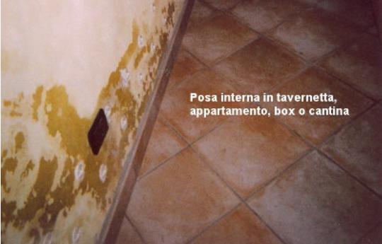 Economica e facile da installare, può essere usata in muri con presenza di salnitro, nei seminterrati, in tavernette e cantine.
