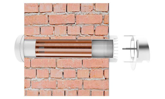 Sistema di ventilazione meccanica controllata realizzato e brevettato da Prana24