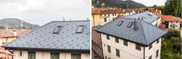 Il rivestimento Scaglie PREFA per un edificio storico in Friuli