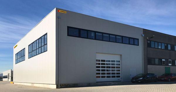 Capannoni prefabbricati in acciaio Kopron per ampliamento aziendale nella sede Meter S.p.A