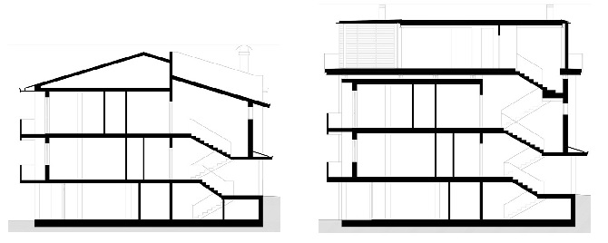 Il progetto - prima e dopo la ristrutturazione dell'edificio
