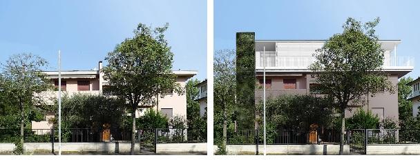 Prima e dopo la ristrutturazione dell'edificio