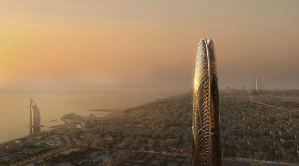 Grattacielo Burj Jumeira a Dubai, dal profilo aerodinamico