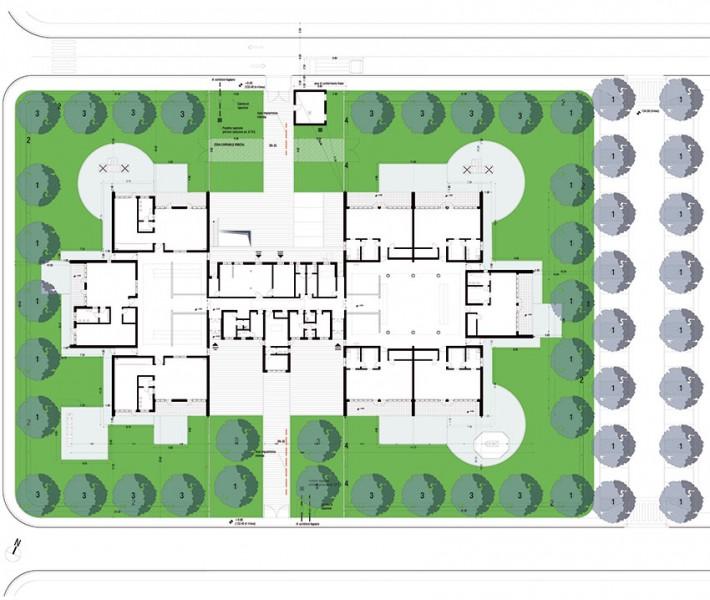 Planimetria generale dell'intervento dell'edificio scolastico