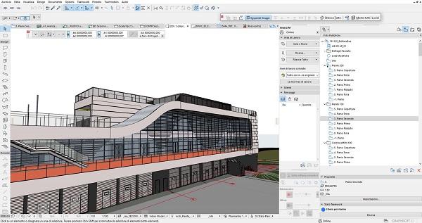 Realizzazione del progetto con software ARCHICAD