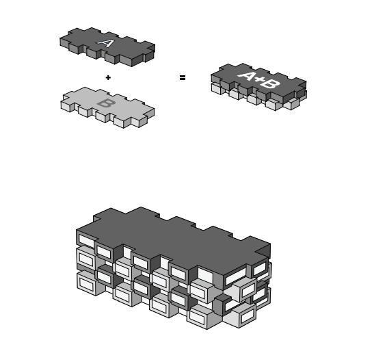 Schema di sovrapposizione di balconi e logge dei due edifici di Norra Tornen a Stoccolma