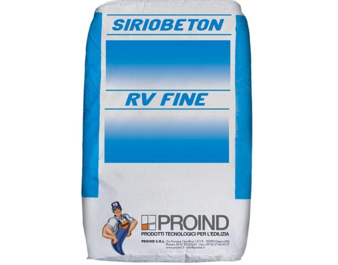Siriobeton RV – RV Fine di Proind malta fibrorinforzata