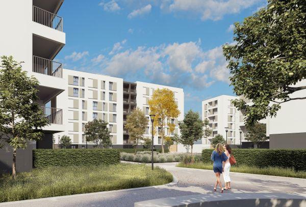Render del complesso residenziale di Redo a Milano Santa Giulia