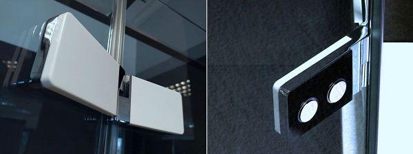 Cabine doccia Relax: Cerniera a filo vetro