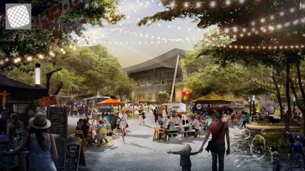 Gli spazi pubblici del nuovo Charleston East Campus di Google