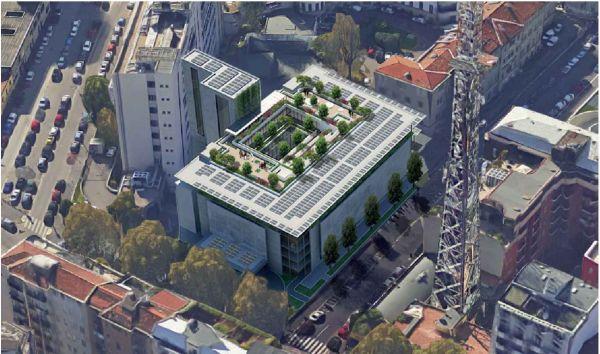 Rendering progetto nuovo ospedale Buzzi a Milano