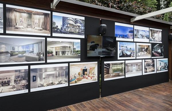 Mostra di rendering durante la presentazione del progetto da parte dell'arch. Massimo Iosa Ghini