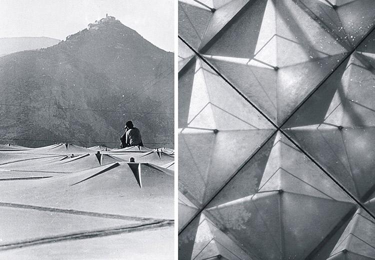 Arch. renzo piano: primi lavori tensostrutture