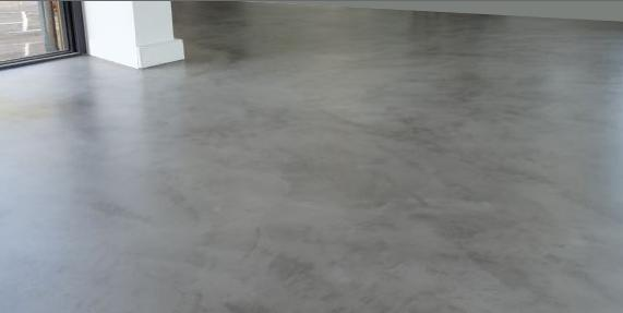Esempio di pavimento in resina cementizia