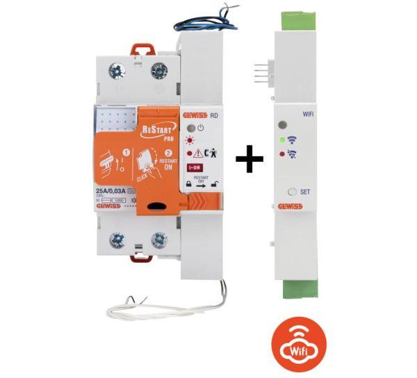 Gewiss: nuova versione dei dispositivi di protezione per la sicurezza delle persone e dell'impianto Restart e Restart Autotest